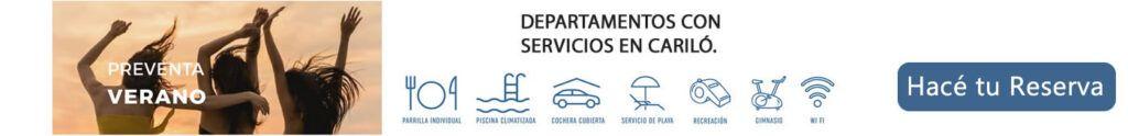 Departamentos con servicios en cariló.